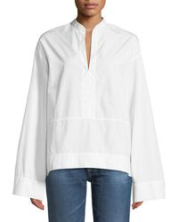 AG Jeans - Eden Wide-sleeve Cotton Tunic Blouse - Lyst