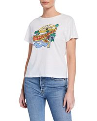 5e23dd82242 RE DONE - Lax Classic Graphic Tee - Lyst. RE DONE - Classic Crewneck ...