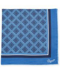 Ermenegildo Zegna - Diamonds Silk Pocket Square - Lyst