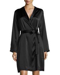 La Perla - Silk Long-sleeve Short Robe - Lyst