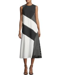 Lafayette 148 New York - Nuri Millennium Crepe Dress - Lyst