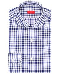 Isaia - Men's Large-check Cotton Dress Shirt - Lyst