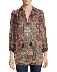 Alice + Olivia | Sterling Half-placket Tunic Top | Lyst