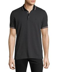 Emporio Armani - Men's Patterned Micro Jacquard Polo Shirt - Lyst