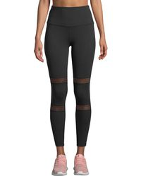Beyond Yoga - Mirage High-waist Mesh Performance Leggings - Lyst