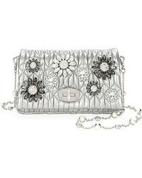Miu Miu - Matelasse Flowers Shoulder Bag - Lyst