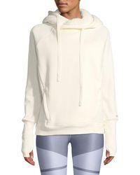 Alo Yoga - Frost Sherpa Hooded Pullover Sweatshirt - Lyst