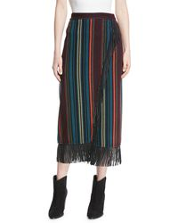 Etro - Leather-trimmed Knit Skirt - Lyst