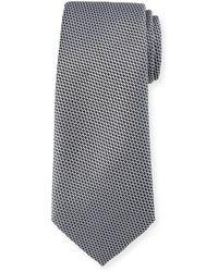 Ermenegildo Zegna - Tonal Checked Silk Tie - Lyst