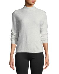 Vince - Waffle-knit Mock-neck Wool-cashmere Sweater - Lyst