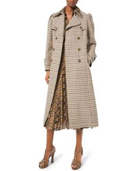 Michael Kors - Puff-sleeve Double-breasted Trench Coat - Lyst