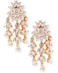 Fallon - Monarch Weeping Fern Crystal Earrings - Lyst