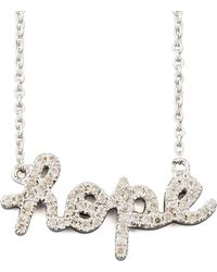 Sydney Evan - Diamond Hope Necklace - Lyst
