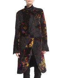 Urban Zen - Devore Velvet Robe Coat - Lyst