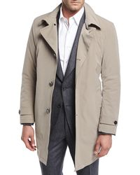 Armani - Belted Trench Coat - Lyst