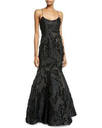 J. Mendel - Beaded-lace Illusion Mermaid Gown - Lyst