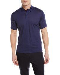 Z Zegna - Wool-linen Polo Shirt - Lyst