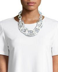 Lafayette 148 New York - Multicolour Oval Chain Link Statement Necklace - Lyst