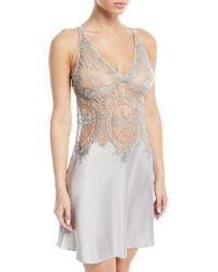 I.D Sarrieri - Coupe De Foudre Silk Lace Chemise Nightgown - Lyst