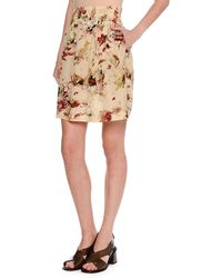 Tomas Maier - Cosmic Floral Silk Skirt - Lyst