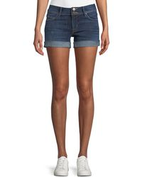 Hudson | Croxley Mid-rise Denim Shorts With Flap Pocket | Lyst