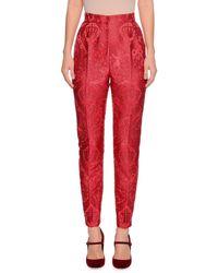 Dolce & Gabbana - High-waist Cherub-jacquard Skinny Pants - Lyst