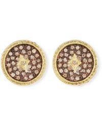 Armenta - Old World Diamond Pave Stud Earrings - Lyst