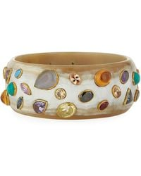 Ashley Pittman - Urujuani Light Horn Bangle Bracelet - Lyst
