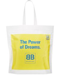 Balenciaga - Men's The Power Of Dreams Leather Tote - Lyst