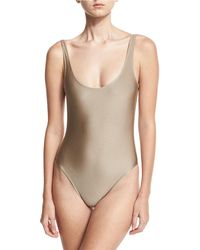 Marie France Van Damme - Classic Solid One-piece Swimsuit - Lyst