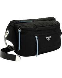 7e1e22fdb505 Lyst - Prada Vela Laminated Nylon Backpack in Metallic