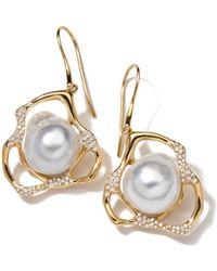 Ippolita - Stardust Perla Drop Earrings With Diamonds - Lyst