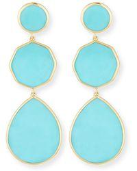 Ippolita - 18k Gelato Crazy-eight Earrings In Turquoise - Lyst