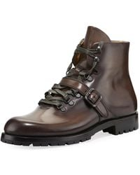 Berluti - Brunico Venezia Leather Hiking Boot - Lyst