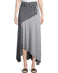 Peter Pilotto - Striped Jersey A-line Midi Skirt - Lyst