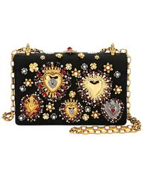 26e4f014f3c2 Dolce   Gabbana - Brocade Dg Girls Embellished Handbag - Lyst