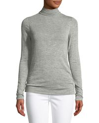 Halston - Long-sleeve Turtleneck Sweater - Lyst