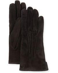 Mario Portolano - Cashmere-lined Suede Gloves - Lyst