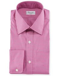 Charvet - Men's Tonal Tattersall Dress Shirt - Lyst
