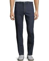 Z Zegna - Five-pocket Stretch-cotton Denim Jeans - Lyst