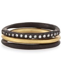Armenta - Old World Midnight Stacking Rings - Lyst