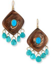 Ashley Pittman - Kingo Drop Earrings W/ Turquoise - Lyst