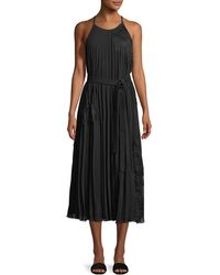 10 Crosby Derek Lam - Sleeveless Pleated Cami Dress With Lace - Lyst