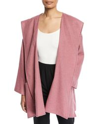 Eskandar - Cashmere-silk Wide A-line Open Front Coat - Lyst