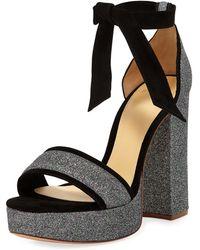 863e8708409 Lyst - Alexandre Birman Celine Platform Velvet Sandal in Black