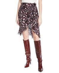 IRO - Lingo Printed High-waist Wrap Skirt - Lyst