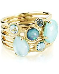 Ippolita - 18k Gold Rock Candy Gelato 6-stone Cluster Ring In Waterfall - Lyst
