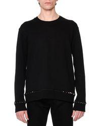 Valentino - Rockstud-trim Crewneck Sweatshirt - Lyst