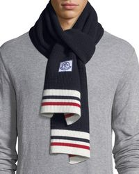 Moncler - Sciarpa Tricot-knit Virgin Wool Scarf - Lyst