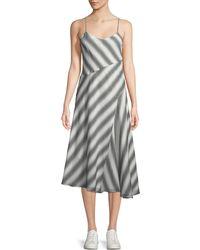Theory - Summer Athens Spaghetti-strap Striped Dress - Lyst
